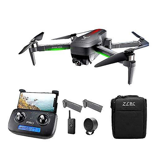Drone GPS con videocamera 4K HD per adulti, testa meccanica a 3 assi con stabilità eccellente, drone pieghevole video live 5G WiFi 800M con altoparlante, ritorno a casa GPS, seguimi, quadricottero p