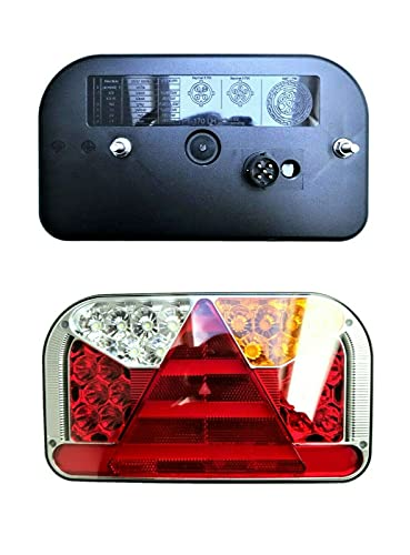 2 luces traseras LED con 6 funciones, 12 V 24 V, bayoneta E9, para camiones, coches, remolques, tráilers