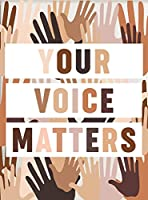 あなたの声は重要、印刷可能な壁、アート教室、アート、金属スズのロゴ、ポスター、壁パネル
