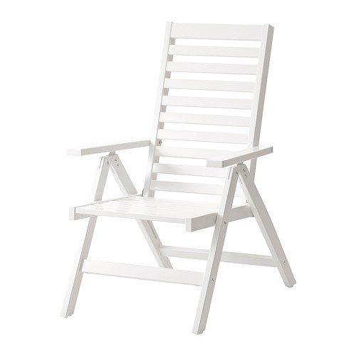 Ikea ÄPPLARÖ Hochlehner für außen; in weiß; aus massiver Kiefer