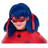 Rubie's-déguisement officiel - Miraculous-Loup pailleté Ladybug Rouge-Taille unique- 34975