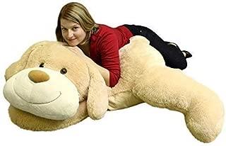 Giant Stuffed Puppy Dog 5 Feet Long Squishy Soft Extremely Large Plush Animal Cream Color