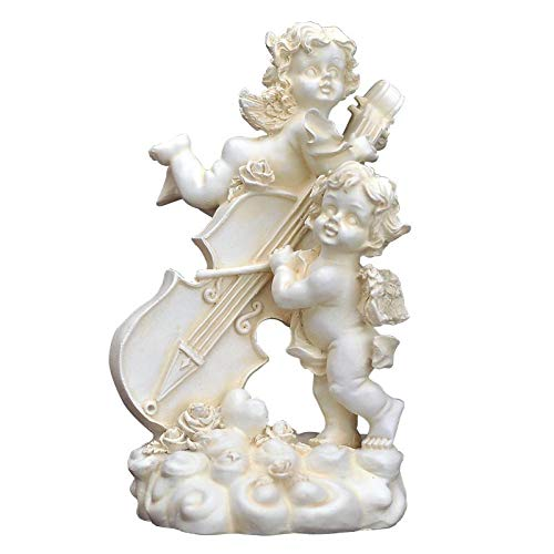 Metall Skulptur Keramik Skulptur Skulpturer Statyer Ornament Statyett Samlarfigurer Ornament Statyer Skulpturer Kreativ Konst Skulptur Ängel Figurin Harts Hantverk Dekorationer För Hem Bröllopsgå