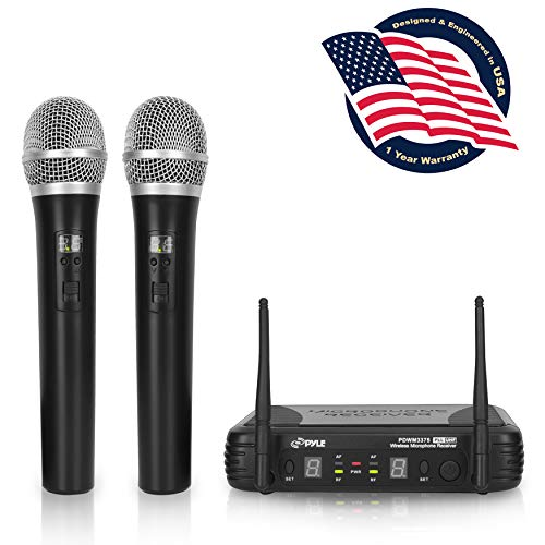 Professional Wireless Microphone System - Dual UHF Band, Wireless, Handheld, 2 MICS With 8...