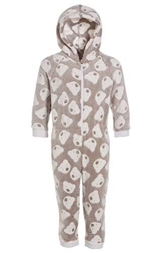 CAMILLE Strampler-Pyjama-Sets für Kinder mit Mehreren Aufdrucken 6-8 Years Mink Bear