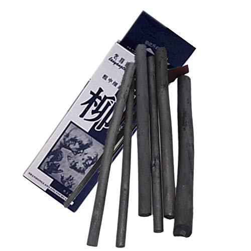 PPX Natürliche Zeichenkohle, Weidenkohle - Länge 100mm - 6 Stück (3-8mm)