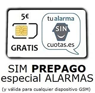 Tarjeta SIM para Alarma PREPAGO SIN cuotas fijas mensuales NI permanencia con Recarga automática ¡¡ Especial para Alarmas gsm localizadores/rastreadores GPS y Dispositivos gsm !!