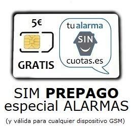 Tarjeta SIM para Alarma PREPAGO SIN cuotas fijas mensuales