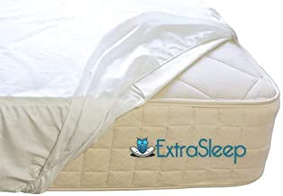 Extra Sleep Terry Cotton Fabric Water Proof Mattress Protector (White)