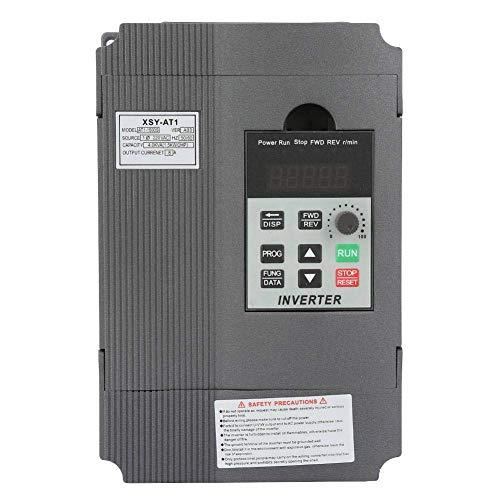LONGWDS Controlador de Velocidad Accionamiento de frecuencia Variable, Controlador de Velocidad VFD Variable monofásica de 220V con Motor de Velocidad de 3 Fases 1.5KW