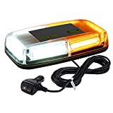 WoneNice 12V Amber COB LED Car Roof Emergency Strobe Warning Light with 5M Power...