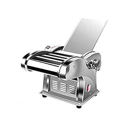 QERNTPEY Heavy Duty Steel Construction Pasta Machine Electric Pasta Maker Machine w 4 Blades and 6 Thickness Settings Perfect for Spaghetti Lasagna 220V 135W All in One Adjustable
