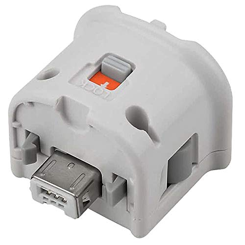 Wii Motion Plus Adapter für Original Nintendo Wii Fernbedienung Externer Zubehör Adapter Accelerator Handle Sensator Accelerator Motionplus für Wii U Wii Controller, weiß