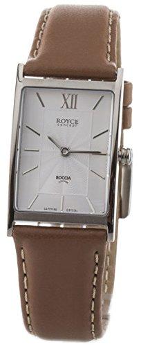 Boccia Damen Analog Quarz Uhr mit Leder Armband 3285-01