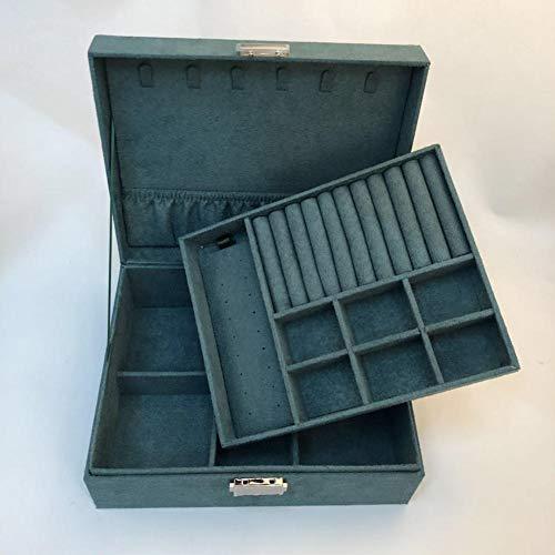 BAWAQAF Jewelry Box,Double layerJewelry Box,Large Capacity Layered Jewelry Storage Box,Ladies Travel Portable Jewelry Box,Jewelry Display Box