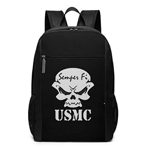 ZYWL Semper Fi US Marine Corps Laptop Rucksack, Reiserucksäcke School College Bookbag für Frauen und Männer 17 Zoll
