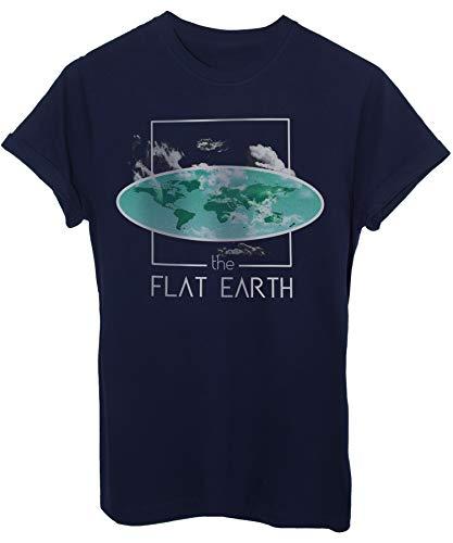 iMage T-Shirt Flat Earth Terra Piatta La Nuova Teoria Terrappiattisti-Divertenti