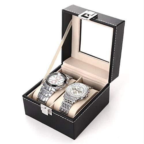 Caja para Relojes Caja de Reloj Caja de Cuero PU Holder Holder Organizador Caja de Almacenamiento para Relojes de Cuarzo Cajas de joyería Mostrar Mejor Regalo, Negro Guarda Relojes/Estuche