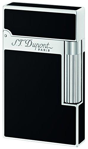 S.T. Dupont D-016296 - Accendino Ligne 2, laccato nero e palladio