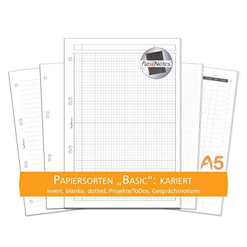 flexiNotes PAPIER A5, 75 Blatt Notizpapier Typ: Basic, kariert