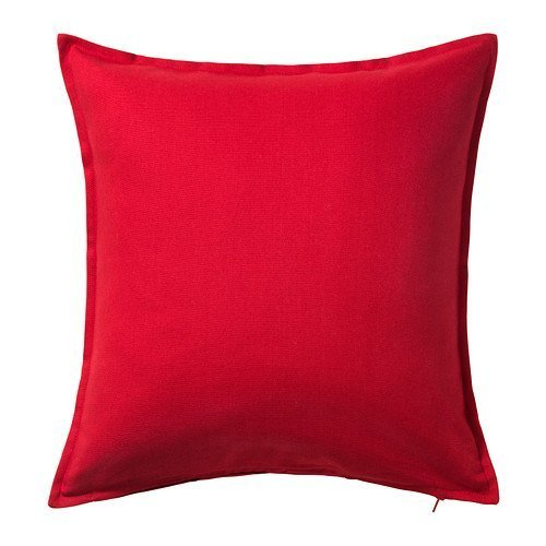 IKEA Gurli–Funda de cojín, rojo–50x 50cm, Pack de 2
