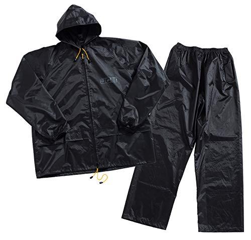 JCB Werkkleding Waterdicht Tweedelig Regenpak, Polyester/pvc, groot formaat, zwart