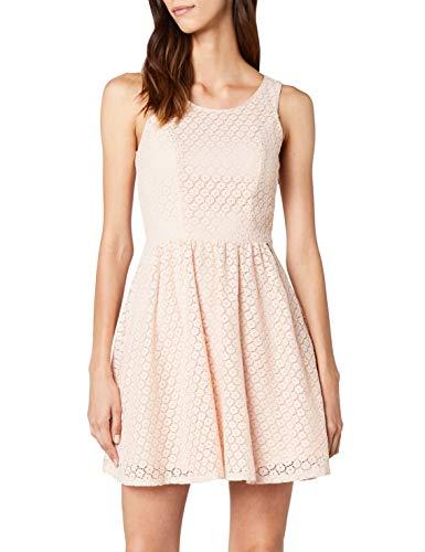 ONLY Damen Kleid Onlline Fairy Lace Dress Wvn Noos, Rosa (Peachy Keen), 36 (Herstellergröße:36)