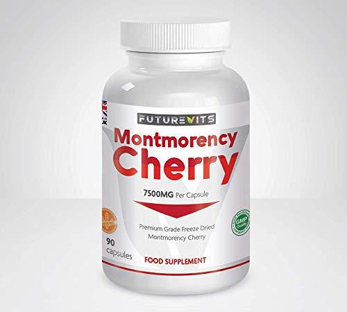 Montmorency Cherry 90 Capsules Cherry Extract 1500mg High Strength Montmorency Cherries Futurevits UK