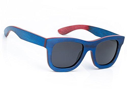 Gafas de sol de madera para hombre y mujer, estilo retro, polarizadas, estilo vintage