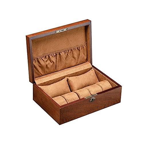 AMAFS Joyero Caja de Reloj Regalo Viaje Hombres Mujeres Cajas de joyería Árbol de Fresno Pulsera de Madera Pulsera con Cerradura Caja de colección de Llaves 29.8 * 20.5 * 10.5Cm Beautiful Home
