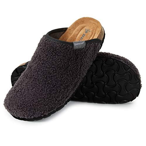 Dunlop Ciabatte Donna, Pantofole Invernali con Pelliccia, Babbucce Antiscivolo con Soletta Memory...