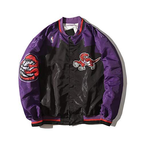 HGsports Toronto Raptors Sudadera Warm Up Chaqueta Retro Púrpura