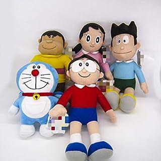 changshuo Juguete de Peluche 5pcsanime Doraemon Plush Doll Nobita Nobi Doraemon Minamoto Shizuka Konta Takeshi Giant Honekawa Suneo Cartoon Plush Toy
