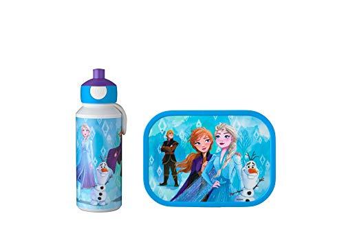 Mepal Pausenset Campus 2 – Trinkflasche und Brotdose mit Bento-Einsatz – ideal für Schule und Freizeit – spülmaschinenfest, ABS, Frozen II, 2-teilig