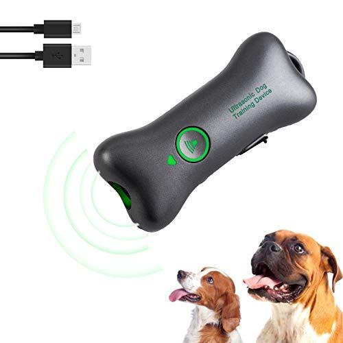 WERPOWER Antiabbaio per Cani Ultrasuonia, Antiabbaio Dispositivo di Abbaio Ricaricabile Anti Abbaio Dispositivo da Addestramento per Cani
