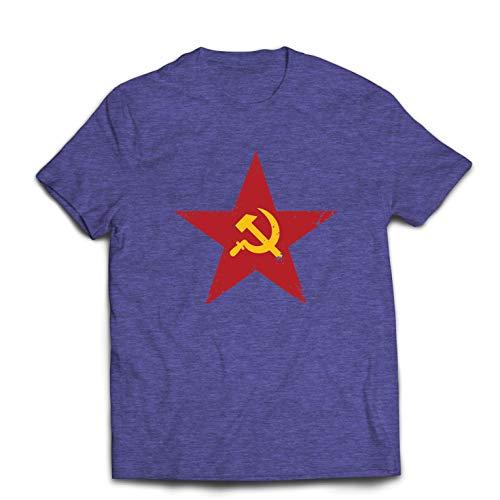 lepni.me Camisetas Hombre URSS СССР La Hoz y el Martillo, símbolo del proletariado socialista