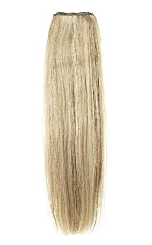 American Dream Remy 100% cheveux humains 35,6 cm soyeuse droite Trame Couleur 10/22 – Medium Ash Brown/blond Plage
