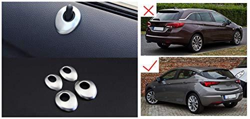 para Astra K 5 puertas 2016-2019 Mate ABS Plástico Cerradura Molduras Interiores 4 piezas (No para Astra Sports Tourer)