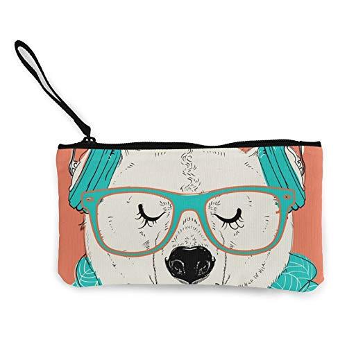 Bolsa de lona con cremallera, bolsa de cosméticos de viaje multifunción, bolsa de maquillaje para teléfono móvil, bolsa de lápices con asa