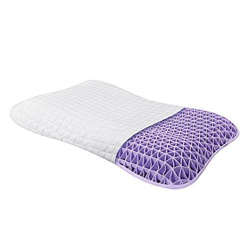 DAPU Purple Pillow Head Neck Support for Hot Sleepers Children 360° Grid Hex Soft Moisture-Wicking Comfortable
