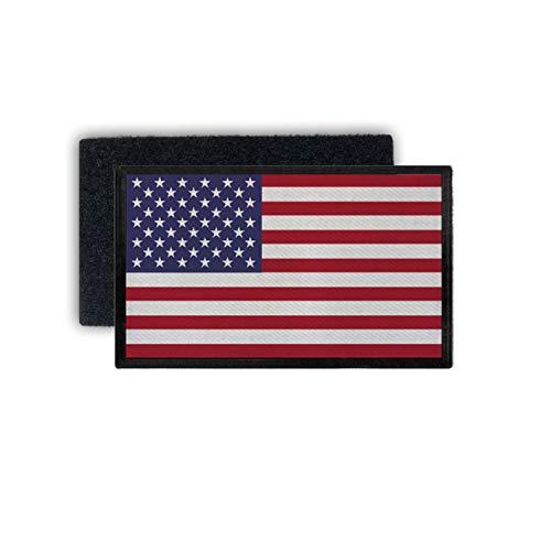 Copytec Patch7,5x4,5 USA Fahne Army Amerika Flagge Abzeichen Uniform Sterne rot #35970