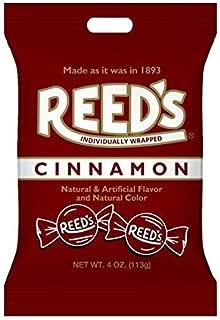 Reeds Cinnamon Hard Candy Peg Bag 4 oz (Pack of 12)