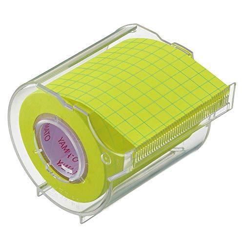 ヤマト 付箋 メモック ロールテープ 方眼タイプ ノート 50mm幅 カッター付き NRK-50CH-LH ×3 セット
