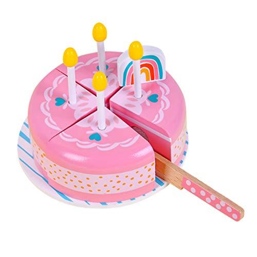 Tomaibaby 1 Juego de Corte Juego de Simulación Juguetes de Comida Juego de Cocina para Niños Juguete de Picnic para Niños Pastel de Simulación Dulces Comida Vajilla Juego para Niños