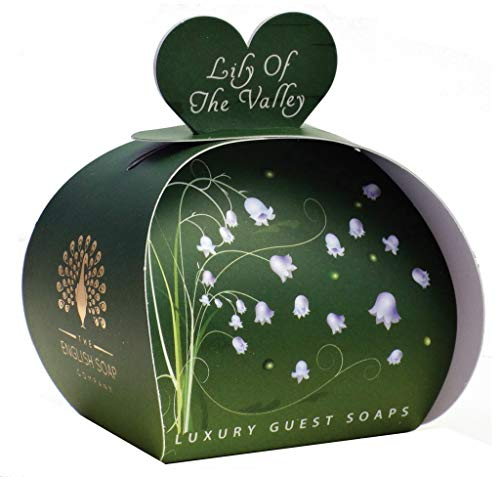 The English Soap Company, Luxury Packed Guest Soaps, Lily of the Valley, 3x20g