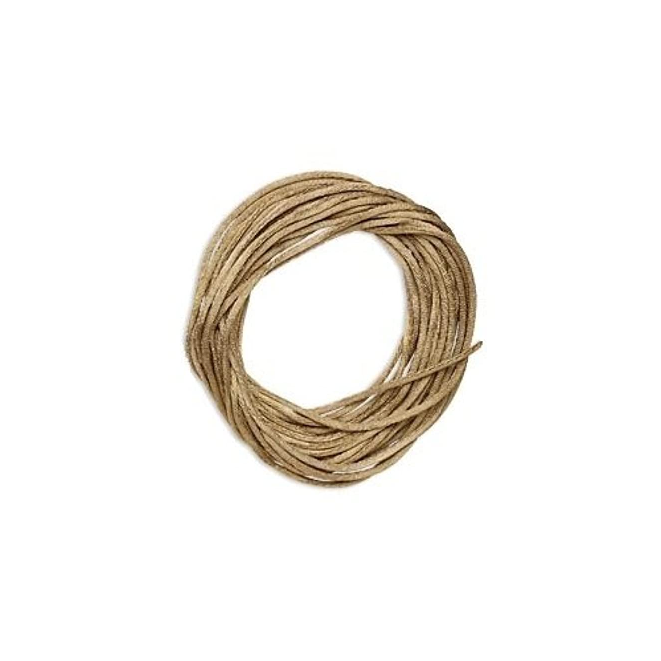 Satin Bugtail Cord Light Brown 1mm. Section of 5 meters / 5.4 Yards.