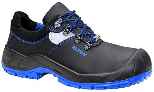 ELTEN Alessio Blue Low ESD S3 727541 Unisex-Erwachsene Sicherheitsschuhe, Sicherheitshalbschuhe, Sicherheitsboots, EN ISO 20345 S3 SRC, Form A Schwarz (Black/Blue), EU 44