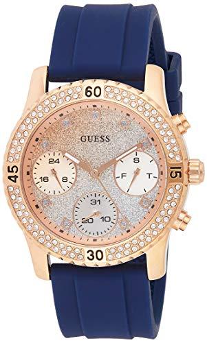 Guess Confetti Reloj para Mujer Analógico de Cuarzo con Brazalete de Silicona W1098L6