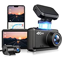 Jomise 4K&1080P Built In WiFi / GPS Car Dual Dashboard Camera