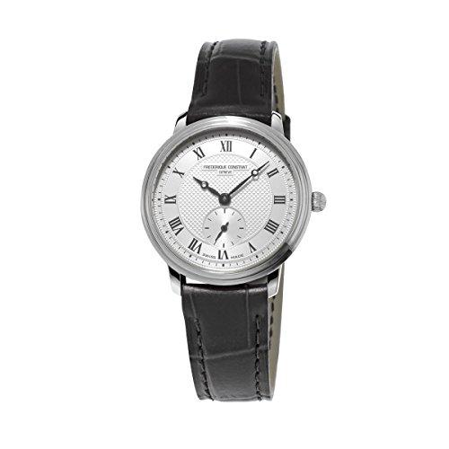Frederique Constant - Reloj analógico para Mujer de Cuero Plata